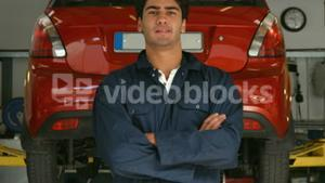 Handsome mechanic