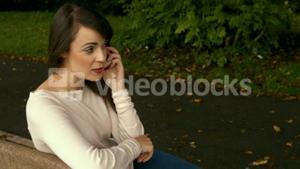 Pretty woman on a phone call