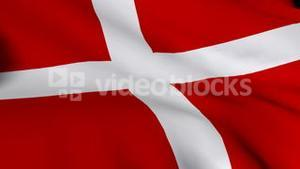 Danish Flag in 3d