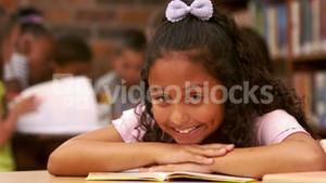 Cute child at school smiling at the camera