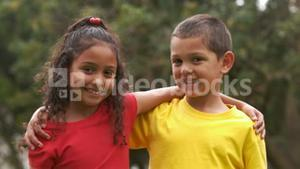 Cute children smiling at the camera