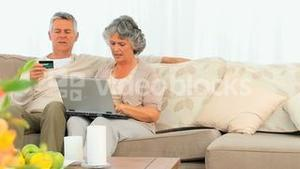 Couple buying something on the net