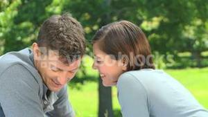 Loving young couple laughing