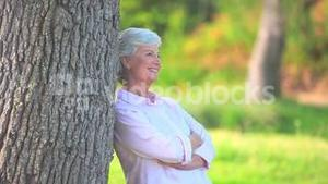 Mature woman smiling and laughing