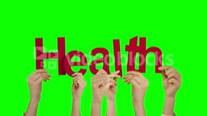 Hands holding up health
