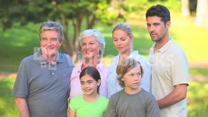 Grandparents with their family