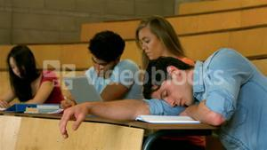 Student sleeping during lesson