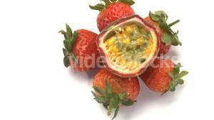 passion fruit and starwberries