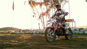 Man riding a motor cross bike
