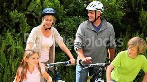 Family going for a ride