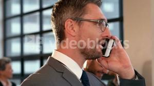 Businessman on phone call