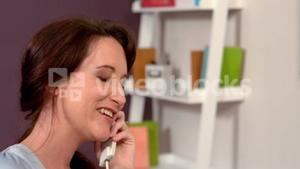 Pregnant woman on phone call