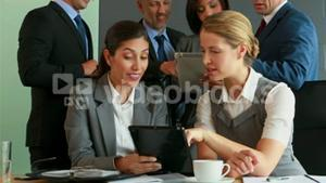 Business team using tablets