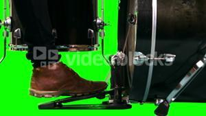 Close up of drummer foot