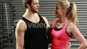 A Fit couple talking together