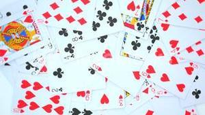 Playing cards rotating