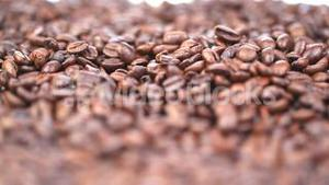 Close up on coffee beans