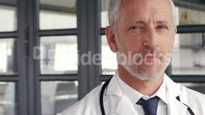 Smiling doctor posing for camera