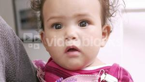 Close up of cute baby