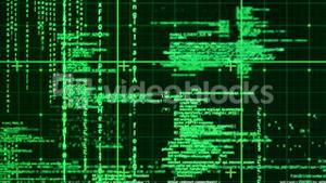 Digital animation of matrix