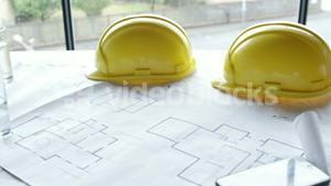 Safety helmets with blueprint