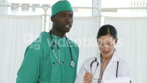 Surgeon with a Nurse