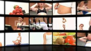 Montage of people playing sport