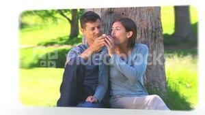 Montage of lovely couples