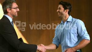 Businessmen having a handshake