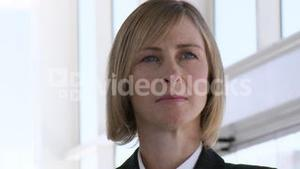 Business woman Looking concentrated