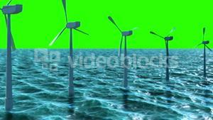 Animation of wind turbine in the sea