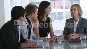 Business team in a business meeting