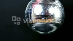 View of a turning disco ball