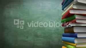 Stack of books rotating