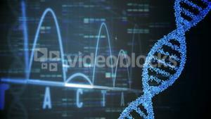 Animation of DNA and graphs moving fast