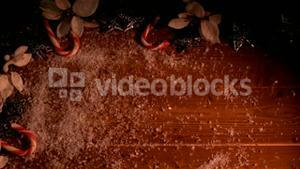 Video of a red background with candy
