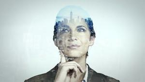 Animation of businesswoman thinking