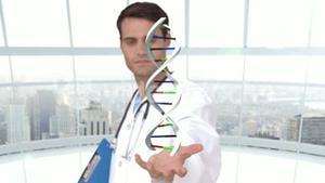 Researcher analyzing dna