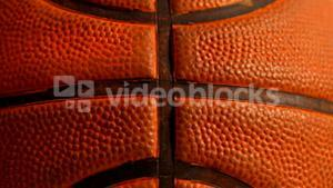 Close up of a basket ball