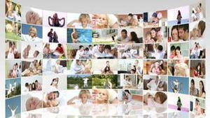 Family footage collage in HD