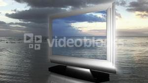 LCD Television in the sea