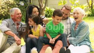 Happy family enjoying time together