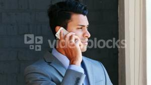 Businessman receiving a phone call
