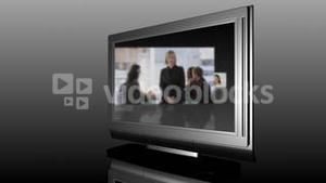 Television Screen showing Business Meetings