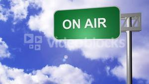 Signpost announcing On Air