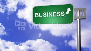 Signpost announcing the Business Way