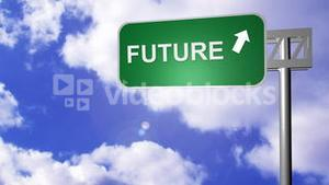 Signpost announcing the Future Way