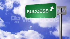Signpost announcing the Success Way