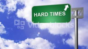 Hard Times Road Sign