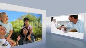 Montage of families together